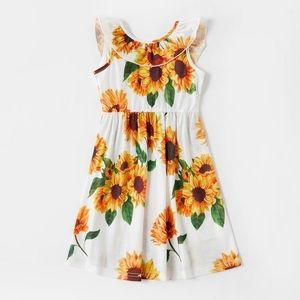 Pat Pat Sunflower Print Fitted Dress